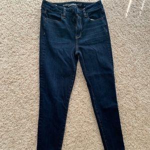 Denim - Super High Waist AE dark wash super stretch jeans